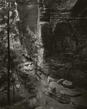 Passage Below the Cliffs, Cedar Falls by Frank Hunter