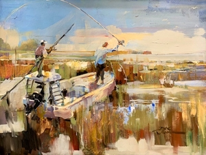 Fishing the Salt Marshes by Dirk Walker