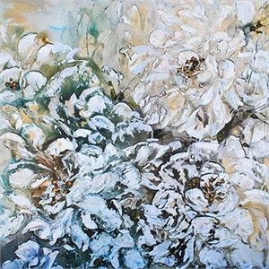 Floral Abstract (White) 186318, 2019