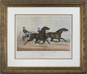 Fast Trotting in the West (Milwaukee Race), 1871