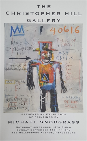 September 2016 Show Poster - Neo Expressionist Art Critic - UNSIGNED