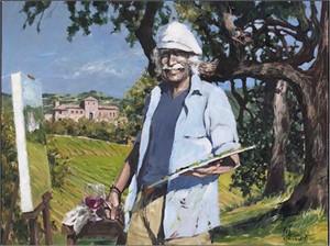 The Painter at Sunstone Villa by Aldo Luongo