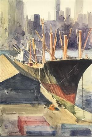 Ship at Brooklyn Pier