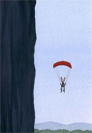 Rabbit with Parachute