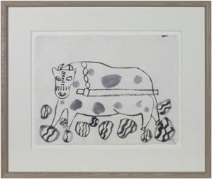 Untitled (Ox?) To be sold as pair only (9334g), 1991
