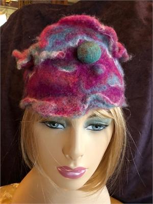 "pink blue sculpted cap ""S/M"""