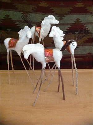 White Spirit Horse - Assorted Clay, 2019
