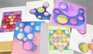 COLLECTION OF EIGHT WORKS ON PAPER, American, 20th century