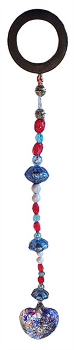 Patio Jewel - Multi Color With Glass Heart #759, 2019