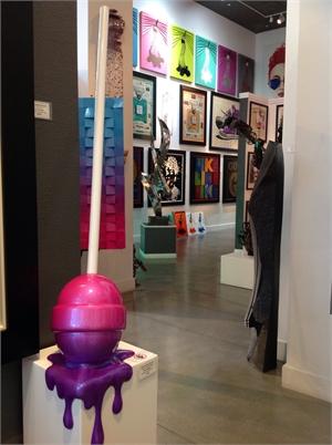"""The Sweet Life"" Medium Fuschia/purple ombre corner drip, 2019"