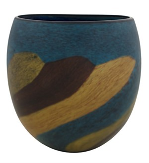 Brown-Green Matte Eliptical Vase, 2005