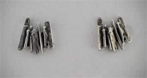 Earrings - Silver Sticks #31302, 2018