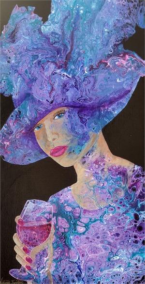 Delilah - Fluid Acrylic on Canvas, 2020