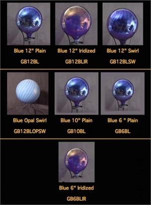 """Gazing Globe - Punxsutawney Blue Iridized - 6"""""""