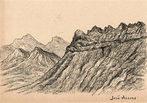 Untitled (Mountains Near and Distant), c. 1950s