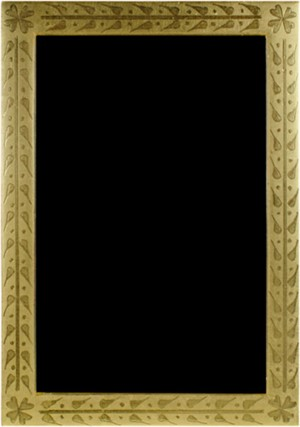 22K GOLD LEAF HANDMADE PHOTO FRAME 4X6 (Vertical or Horizontal), 2011