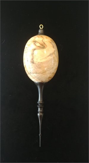 Spalted Silver Maple and Ebony Ornament, 2019