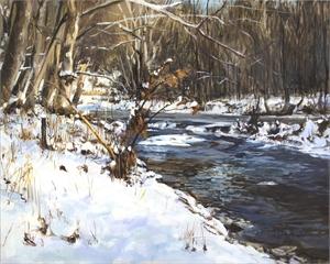"""DONALD A SCHUSTER, """"Gregory Creek 12 - Winter Sun"""""""