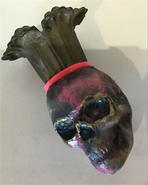 Skull with Candle Crown, 2019