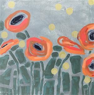 Orange Poppies + Dots
