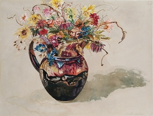 Pitcher with Flowers by DeAnn Melton