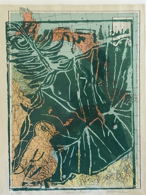 Palm on Map Monoprint 10/20  (SPECIAL PRICING), 2020
