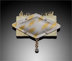 Fire & Ice Brooch/Pendant, 2018