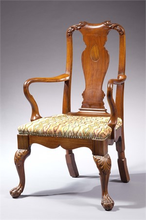 CHINESE EXPORT HARDWOOD OPEN ARMCHAIR, Chinese, 19th century