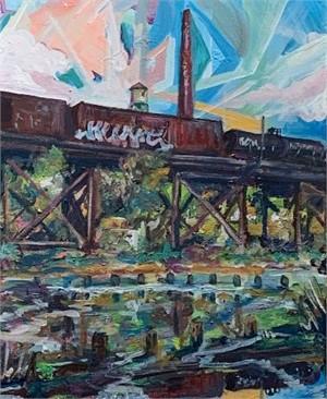 train trestle by Ed Trask