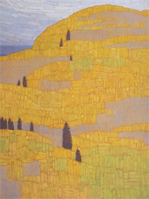 Hill Patterns, Late September by David Grossmann