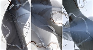 Movement Study in Copper and Silver (triptych), 2020