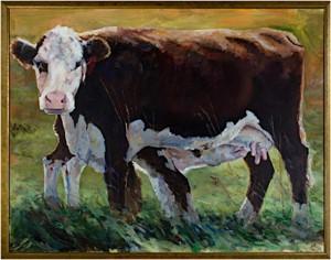 Nursing cow, 2001
