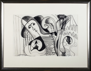 Abstract Figure With Bird, 1954