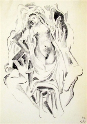 Untitled (Standing Nude), 1936