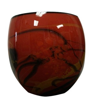 Red Eliptical Vase (Cordoba - Oval), 2005