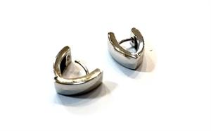 Earrings - Huggies Wedge Sterling Silver E2173