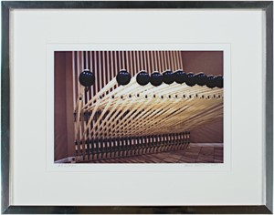 Steinhafel's Musical Syncopated Rug Rack Sculpture-signed on front lower right & back, 2004