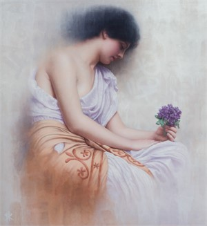 Revisiting Godward's Sweet Violet's by Patrick Kramer