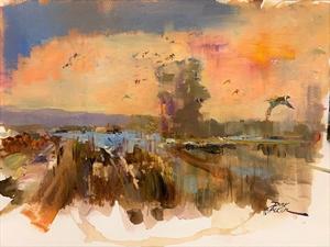Ducks Over White River by Dirk Walker