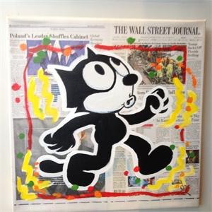 Wall Street journal Print Felix the Cat, 2019