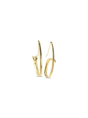 Earrings - 14kt Gold Anticlastic Hoops 691