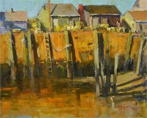 """ANN LARSEN, OPA, """"Low Tide Rockport"""""""
