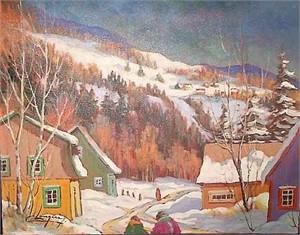 Village sur la colline 17716