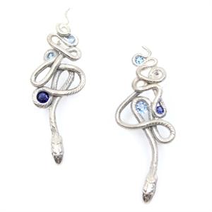 Sapphire Serpentine Earrings