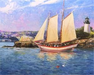 Sailing Past 10 Pound Island, 2018
