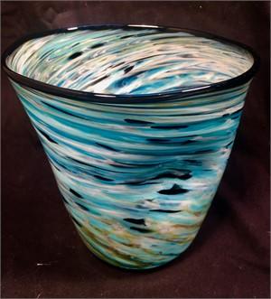 Tilted Blue Swirl , 2018