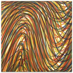 Wavy Brushstrokes Superimposed (4/35), 1998