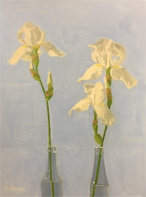 Two White Irises