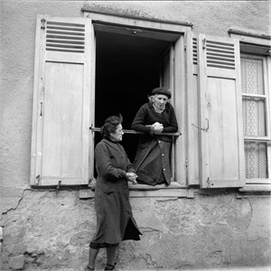 No. 067 Two Women Framed in Window, Lyon, France, 1950