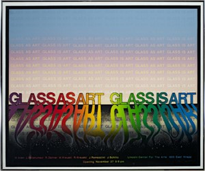Glass as Art, Glass is art Ed: 25/50, signed, 1981